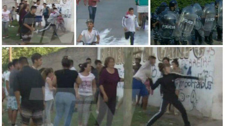 Tras la aparición del cuerpo de Sheila, hubo incidentes entre la policía y los vecinos
