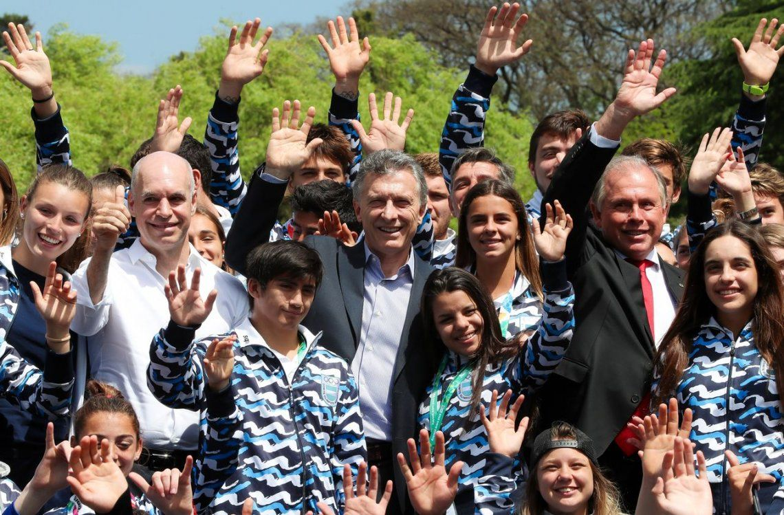 Macri, a los atletas juveniles en Olivos: Transmitieron a la Argentina que se puede