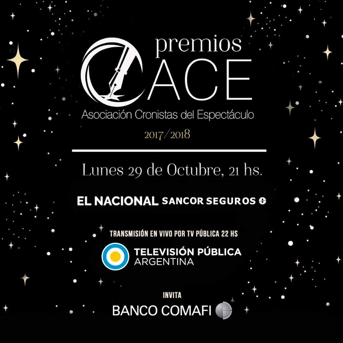 Todos los nominados a los premios ACE 2018/2019