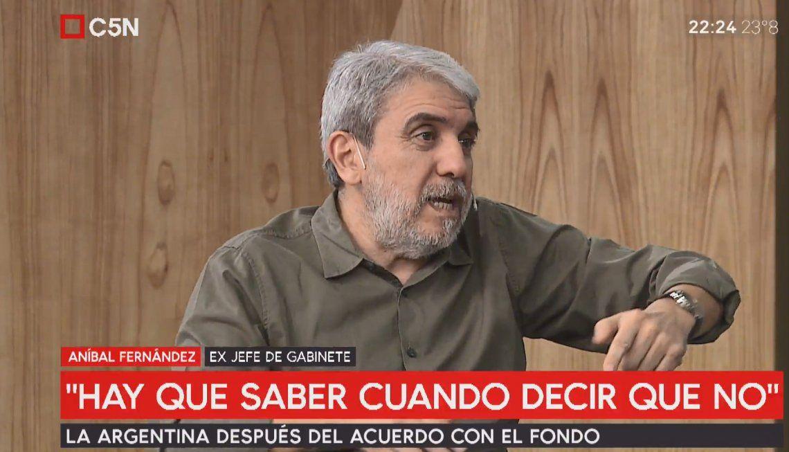 Aníbal Fernández: Con Cristina sola no se puede, pero sin Cristina tampoco