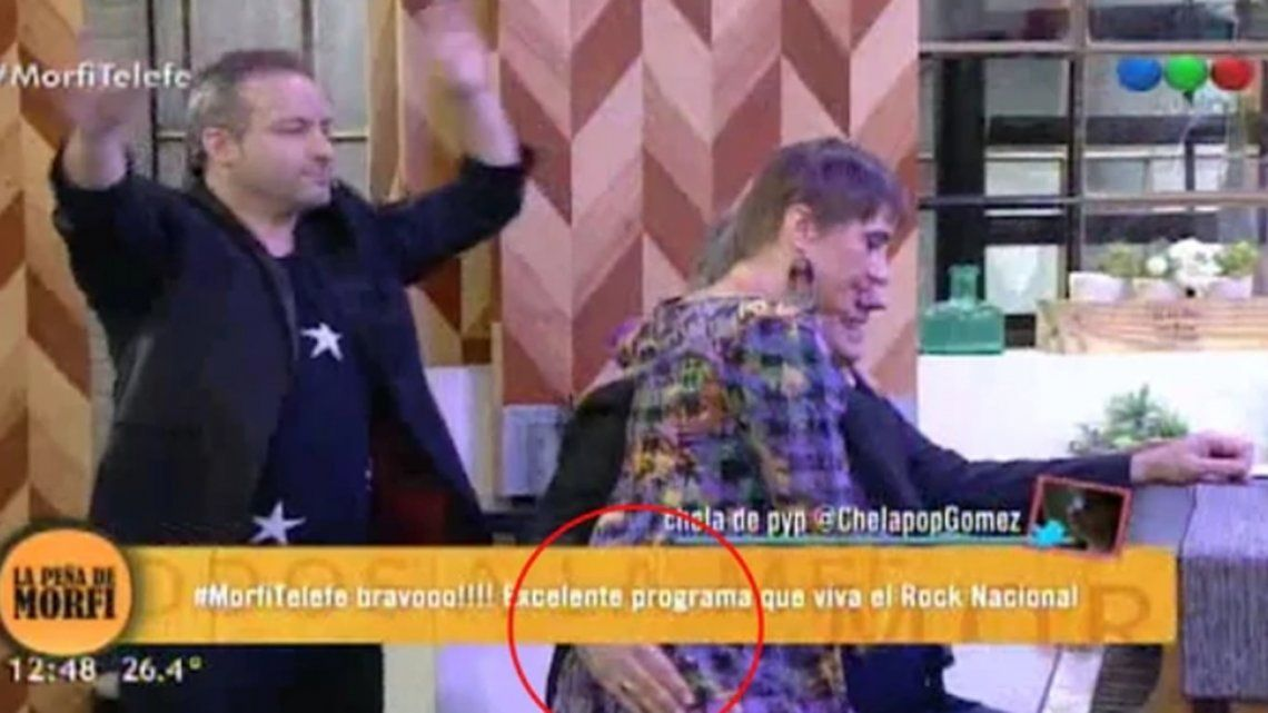 Lito Vitale le tocó la cola a Hilda Lizarazu y ella lo frenó en vivo