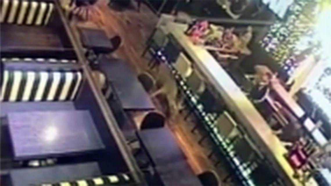 Un ciervo al galope causó revuelo en una zona de bares de Rosario