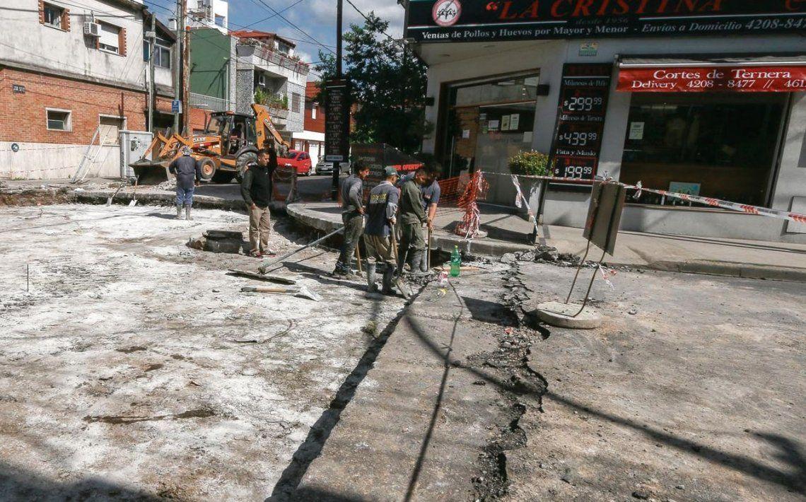 Lanús: avanza la repavimentación en calles y avenidas