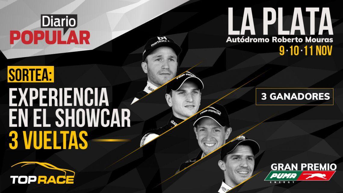Popular sortea 3 vueltas en el showcar del Top Race en La Plata