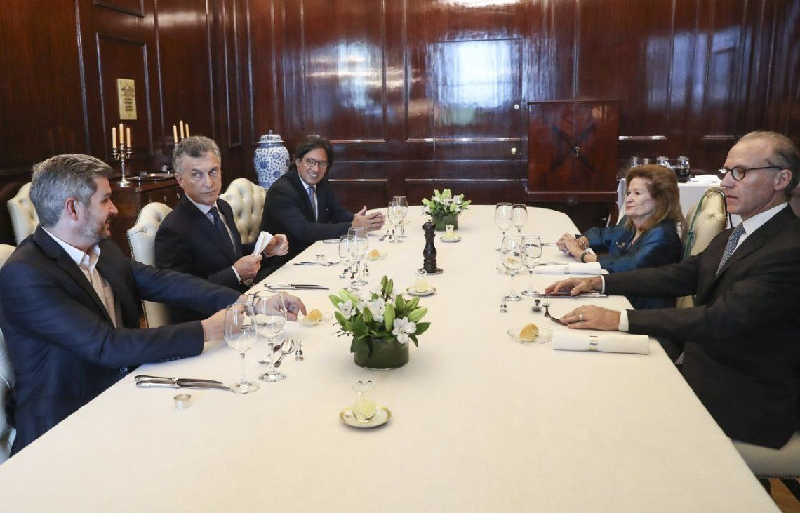 Macri almorzó con Rosenkrantz y Highton en la Casa Rosada