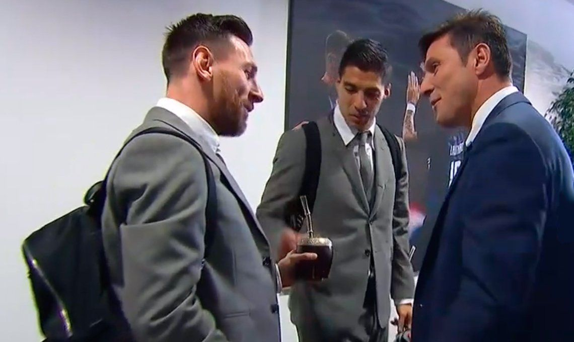 Video | El curioso elogio del Pupi Zanetti a Messi y Suárez
