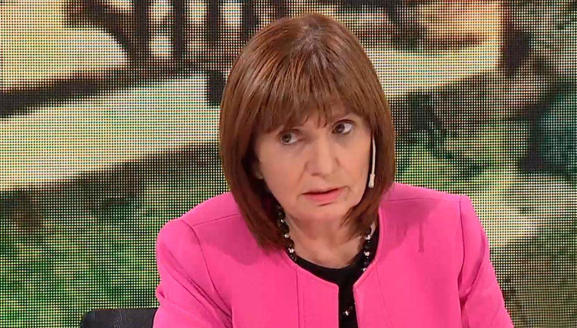 Patricia Bullrich: Lo de Boca y River era algo menor al lado del G20