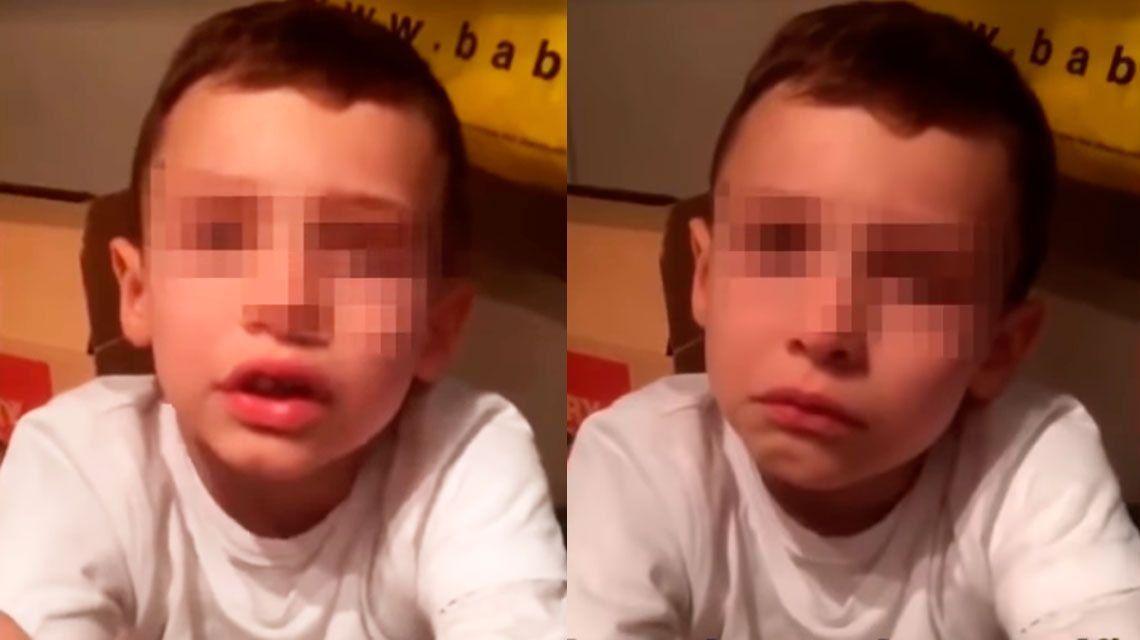 El desgarrador video de un nene de 7 años víctima de bullying: Quiero morirme