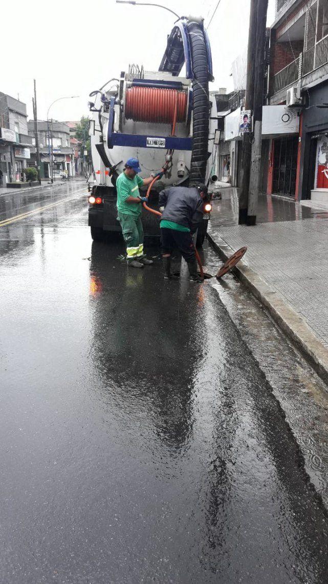 Operativo especial en Lanús por las tormentas