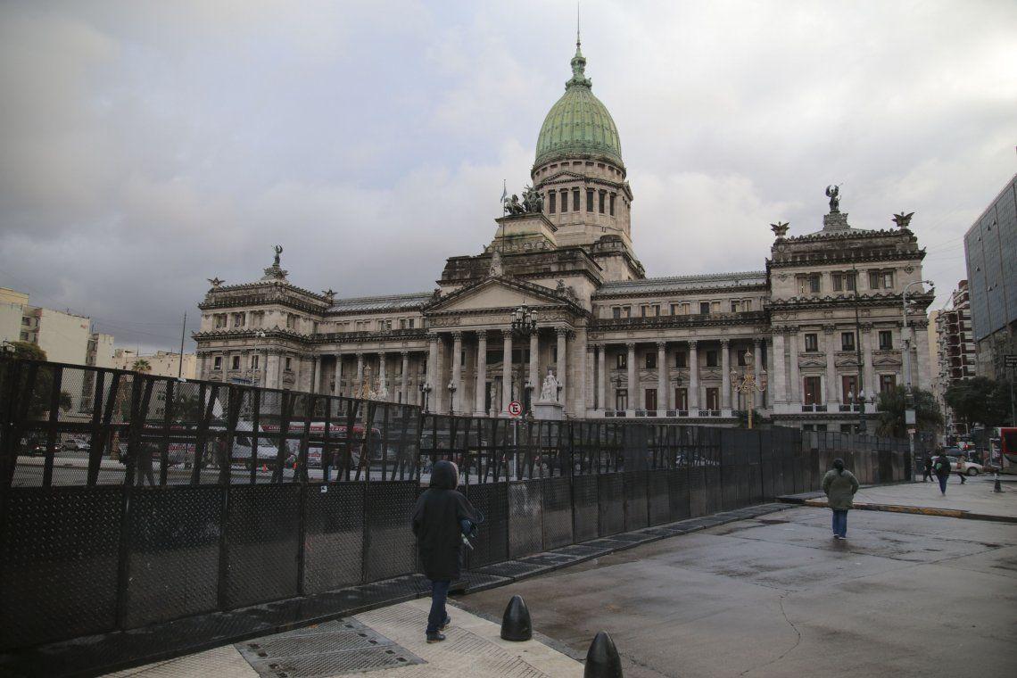 Mapa | Cortes y operativos en el Congreso por el tratamiento del Presupuesto