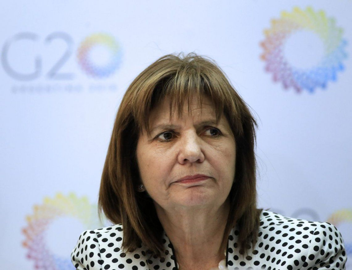 Cumbre del G20: Patricia Bullrich anunció que habrá 22 mil policías