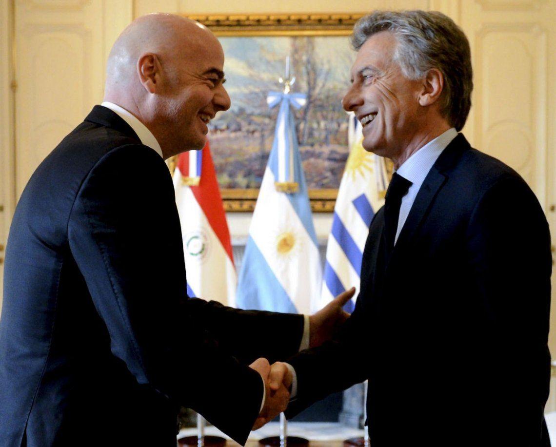 Mauricio Macri se reunía con GIanni Infantino mientras la Conmebol confirmaba el River-Boca en Madrid