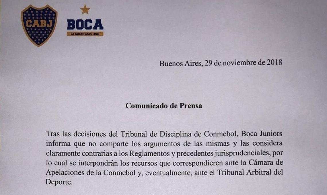 Boca estalló por la decisión de la Conmebol de jugar la revancha ante River