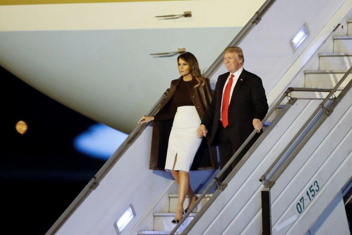 Donald Trump llegó a la Argentina para participar del G-20