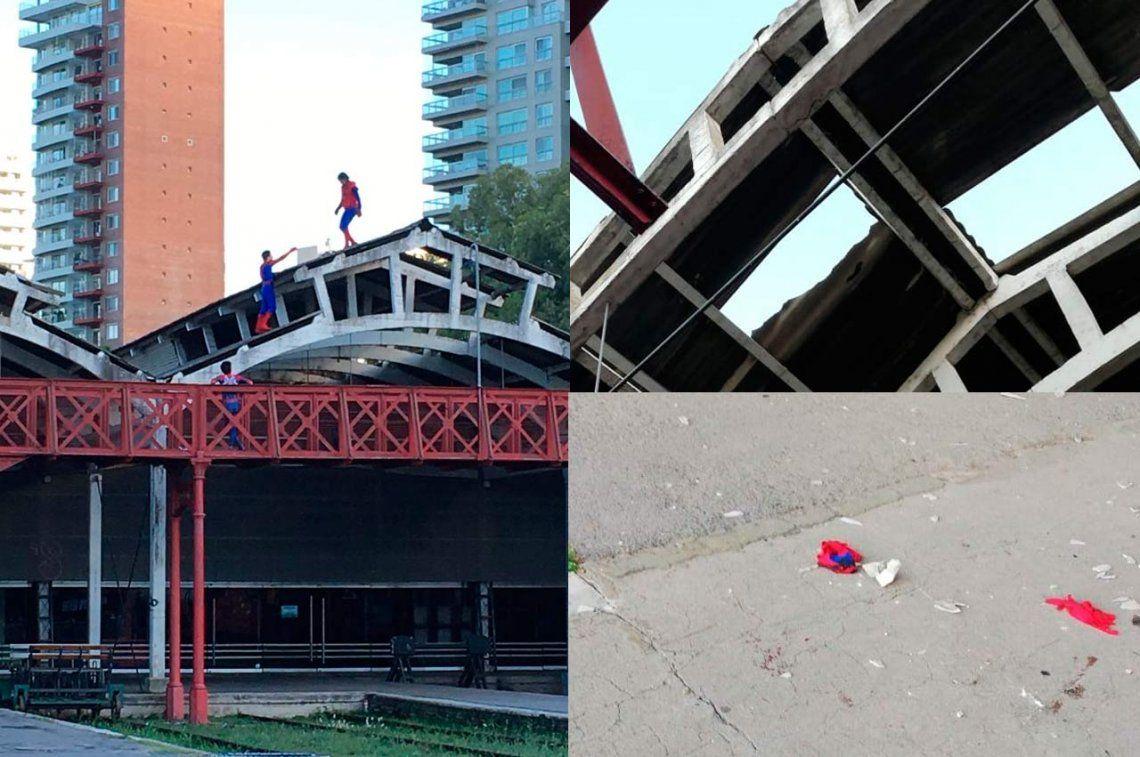 Rosario: por emular al Fortnite, casi se mata al caer de un techo disfrazado de Spider-Man