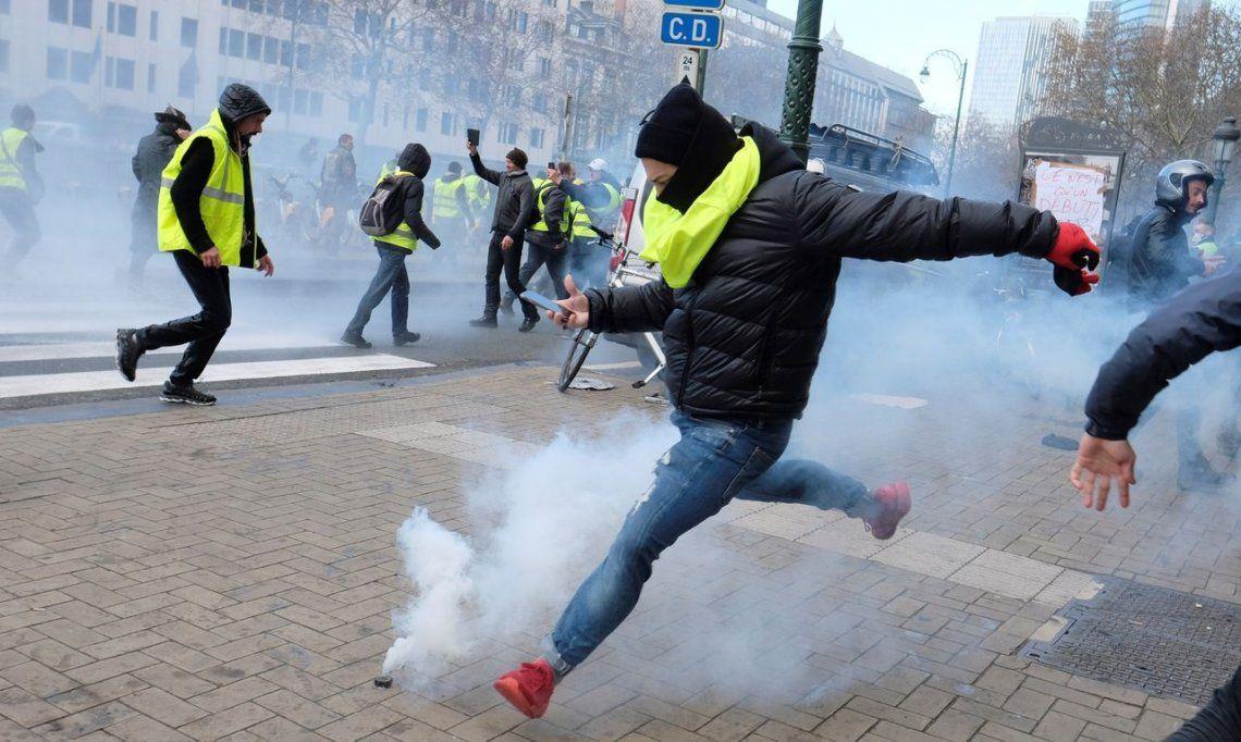 En Bruselas también protestan por los aumentos en los combustibles
