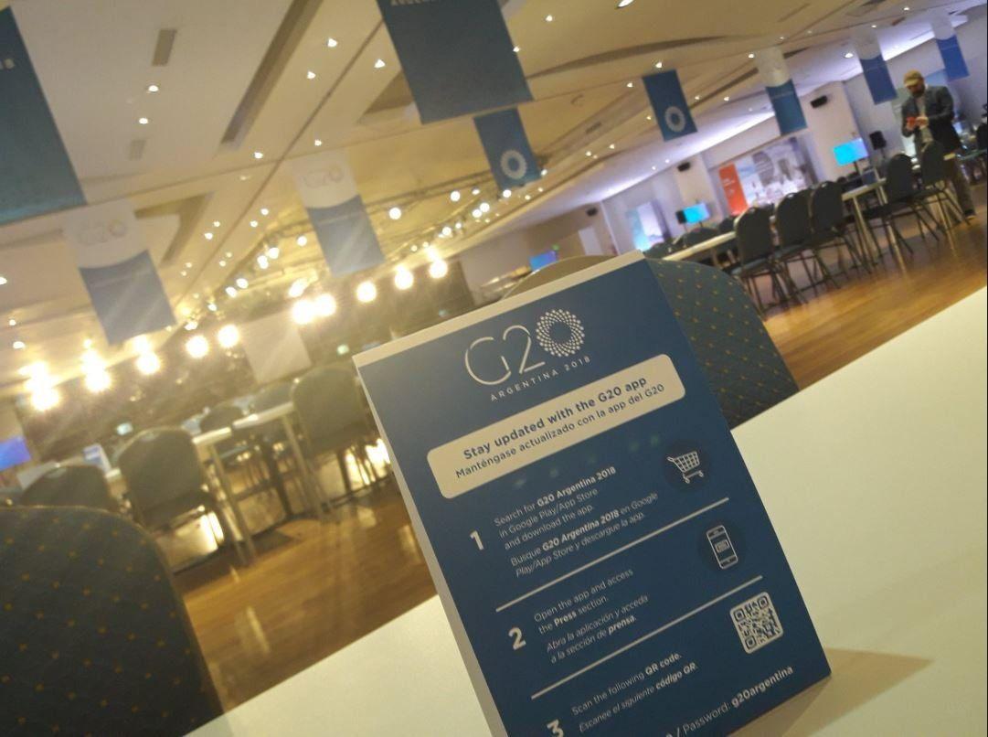 A la hora del sismo, se cayó Internet en el centro de prensa del G20