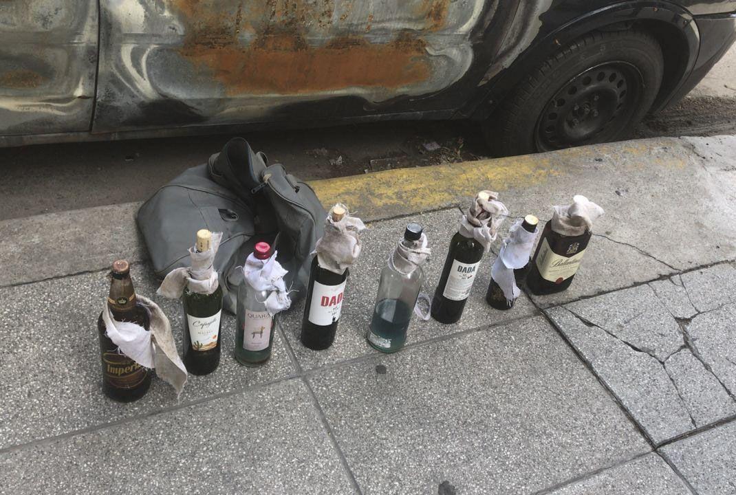 Hallan ocho bombas molotov donde se iba a iniciar la protesta contra el G20