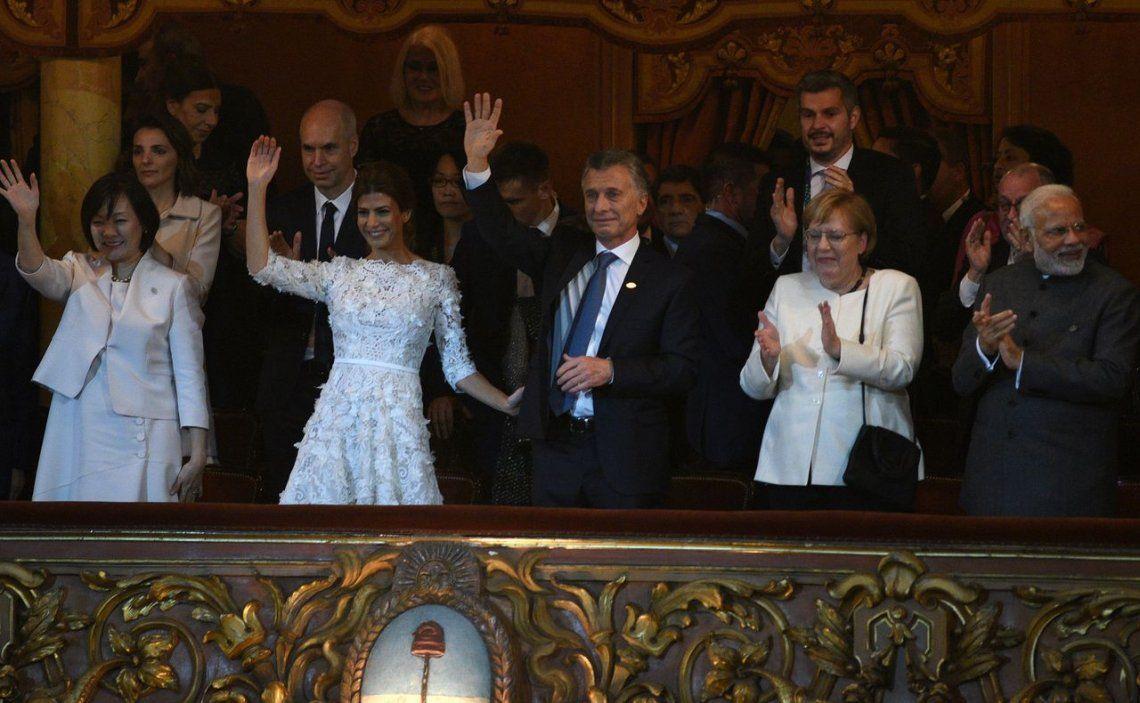 Mauricio Macri se emocionó hasta las lágrimas durante el espectáculo en el Teatro Colón