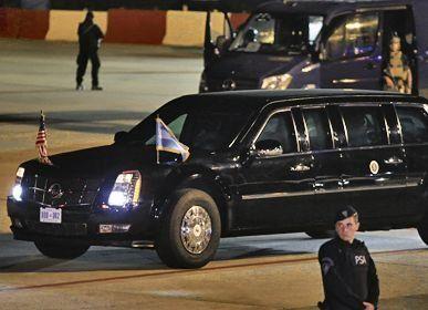 Dos estrellas: los autos blindados de Trump y Putin