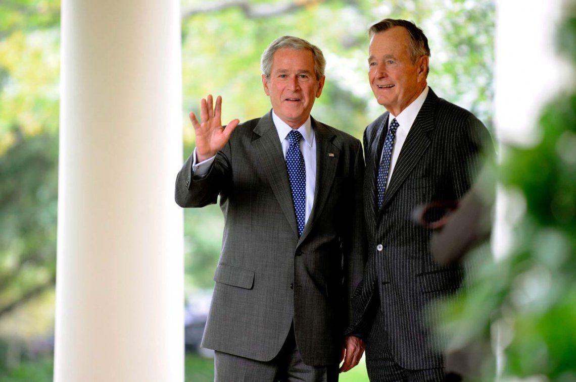 Gorge Bush y su hijo