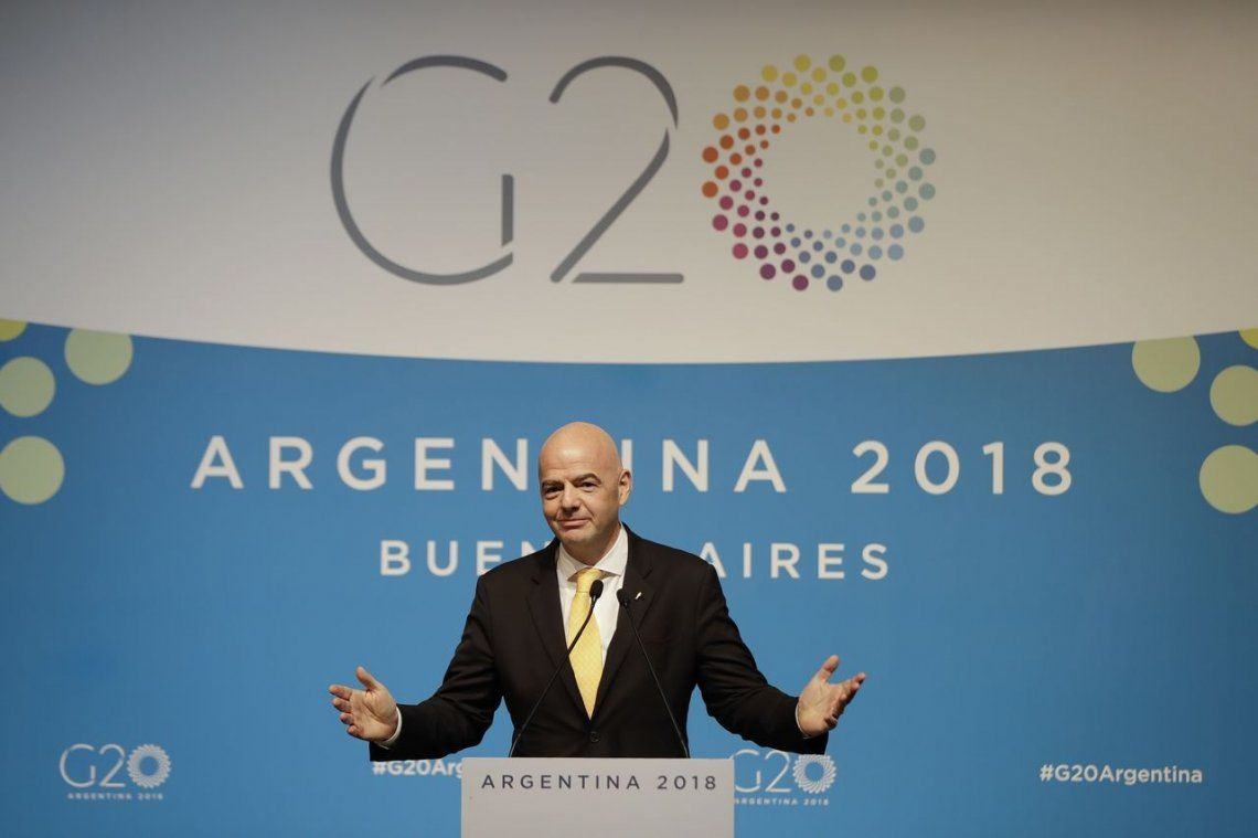 Infantino, desde el G20 sobre el River-Boca: Todas las partes acordaron jugar en España