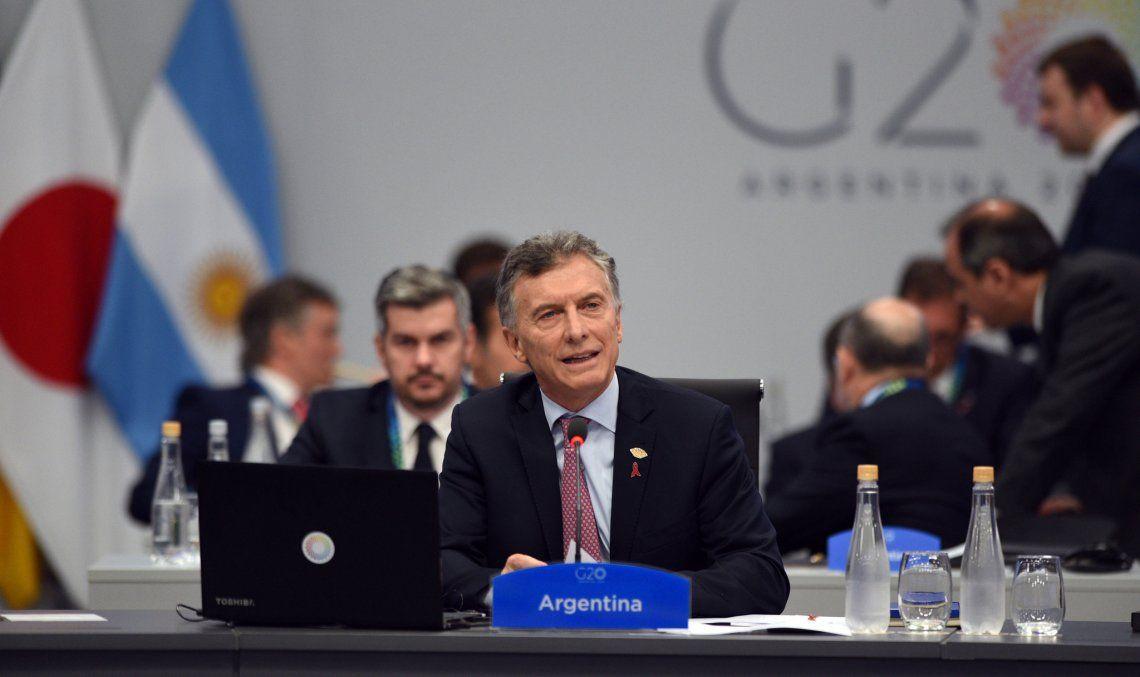 Macri disertó ante el G20 y bregó por la sostenibilidad climática