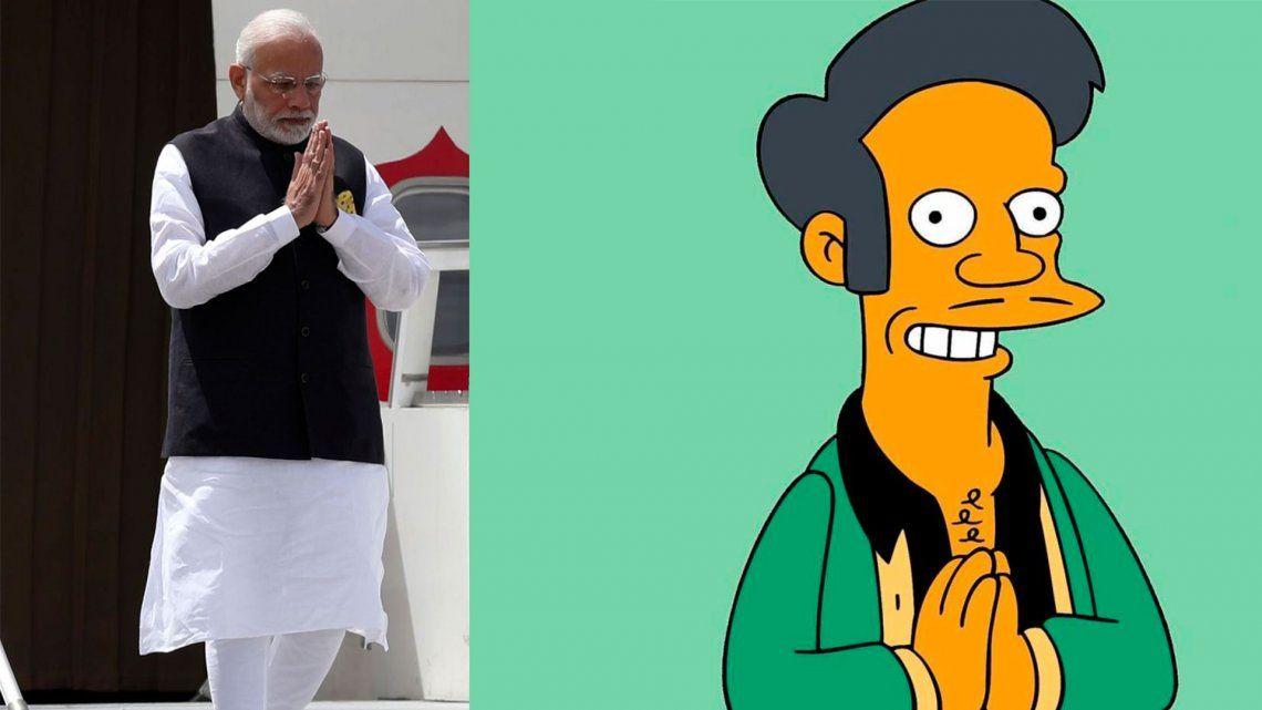 ¿Cómo actuará India tras la escandalosa comparación de su primer ministro con Apu de Los Simpson?