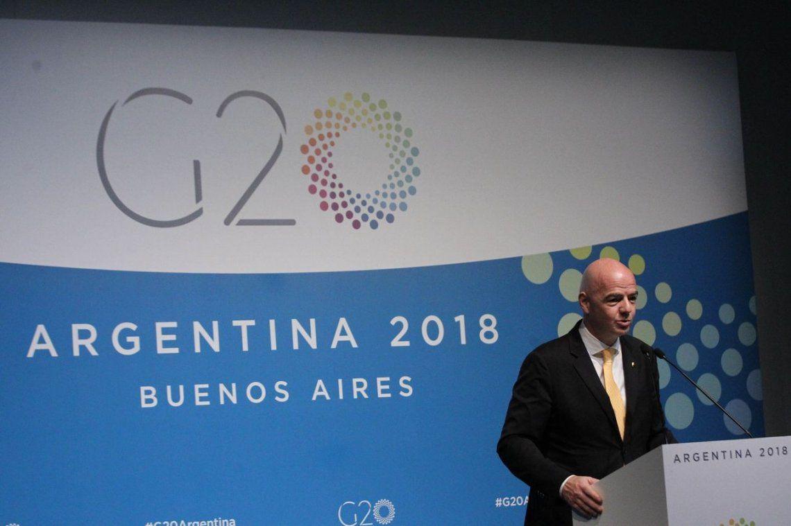 La sorpresa de Infantino y cómo se coló el fútbol en la agenda del G20