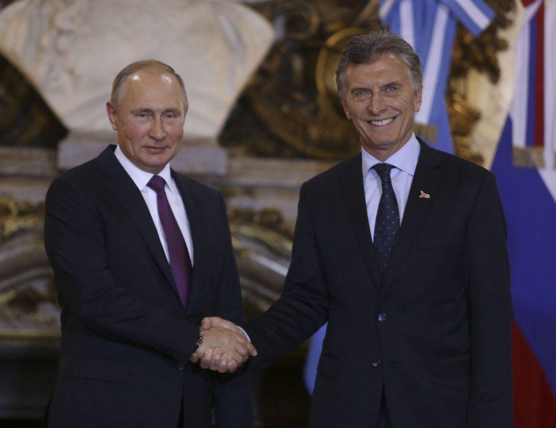 Macri, junto a Putin: Nuestra relación tiene una agenda cada vez más amplia