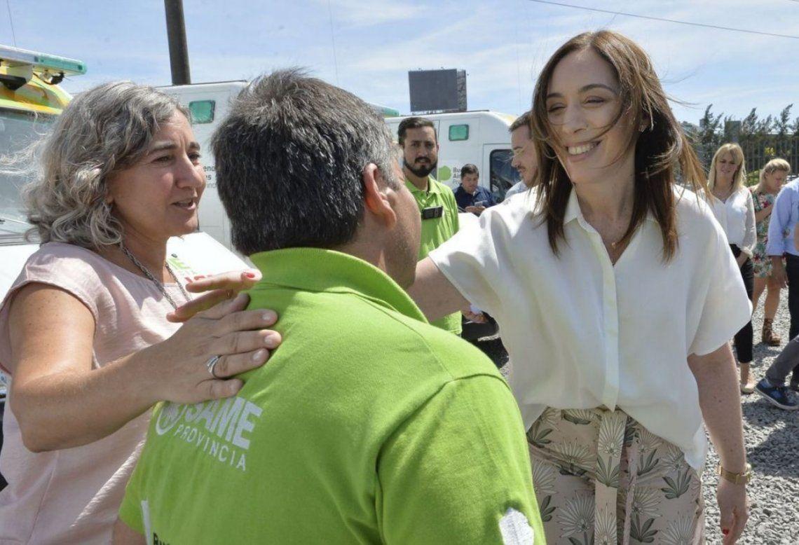 Vidal anunció la ampliación del SAME a otros cuatro municipios bonaerenses