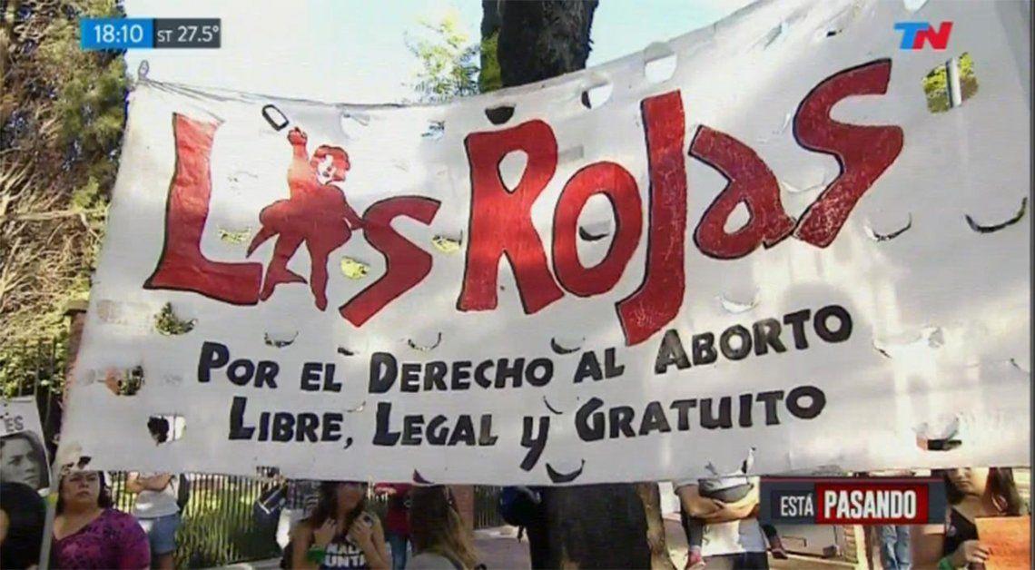 Pañuelazo frente a la Quinta de Olivos a favor del aborto