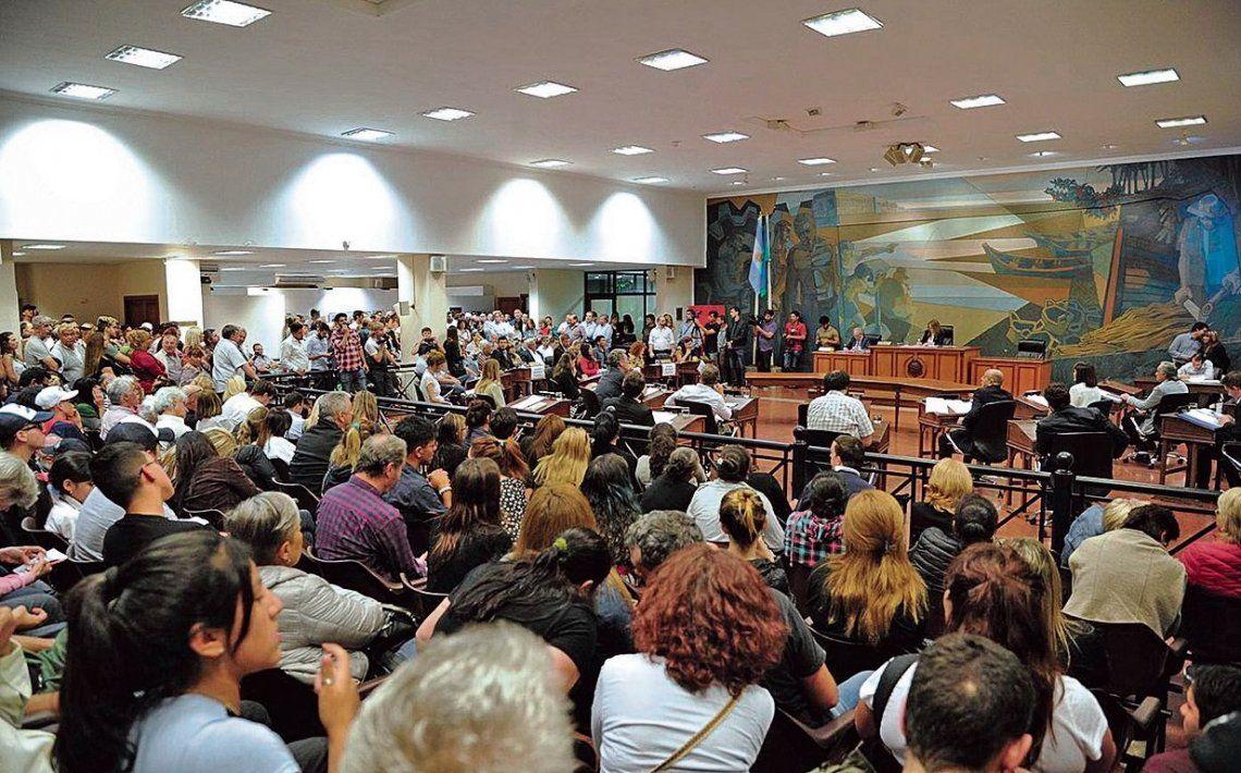 dLa sesión del Concejo Deliberante de Tigre en la que se aprobó el Presupuesto para el próximo año.