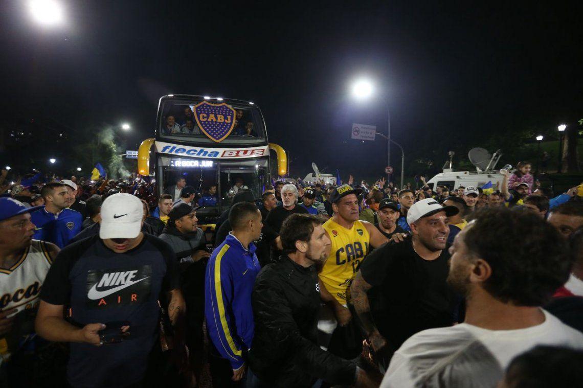 Di Zeo y Mauro Martín encabezaron la seguridad de la despedida de Boca