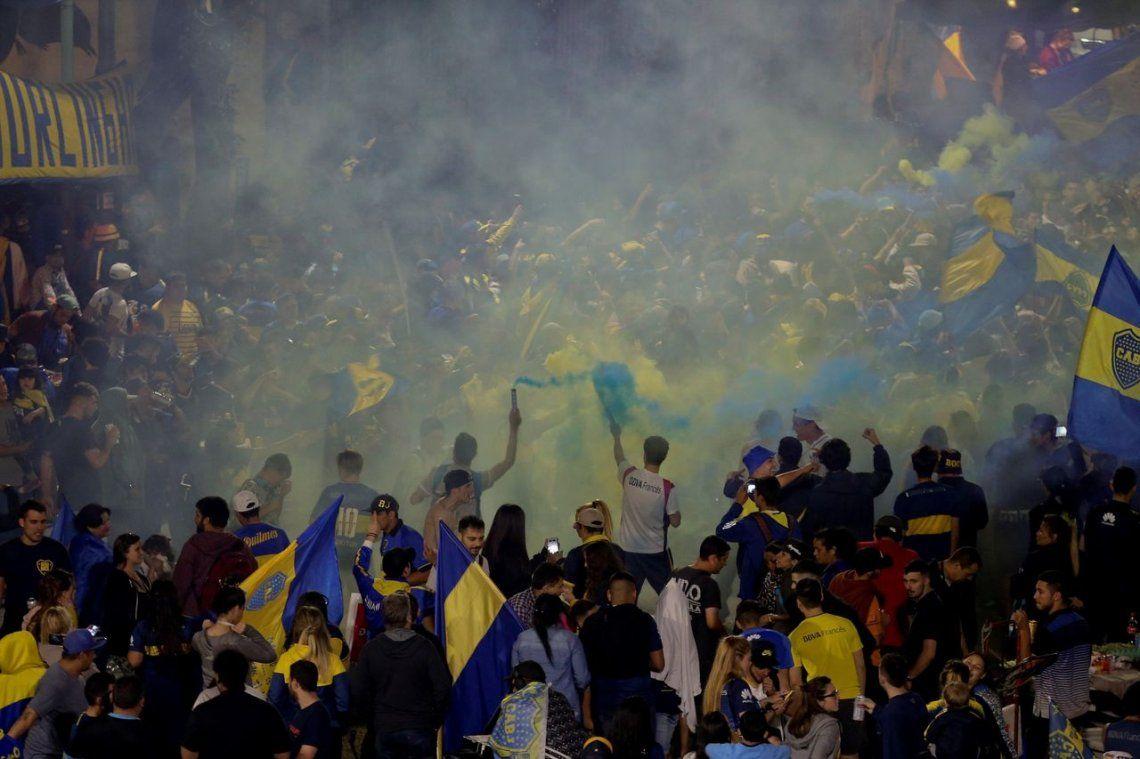 Las mejores fotos del banderazo de Boca