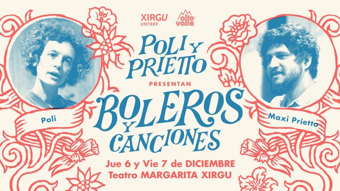 Poli y Prietto traen sus Boleros y Canciones en San Telmo