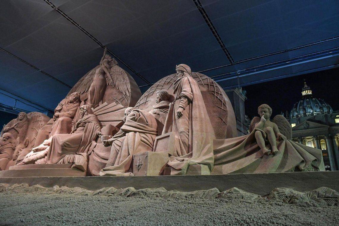 El pesebre gigante del Vaticano, en fotos