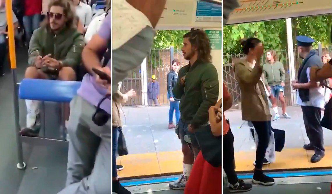 Escracharon a Rodrigo Eguillor cuando viajaba en el tren Mitre