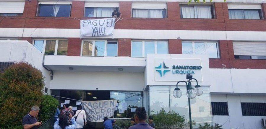 Quilmes: paro de trabajadores en el Sanatorio Urquiza