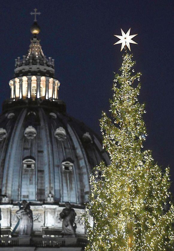 Inauguran árbol y pesebre de Navidad en plaza San Pedro