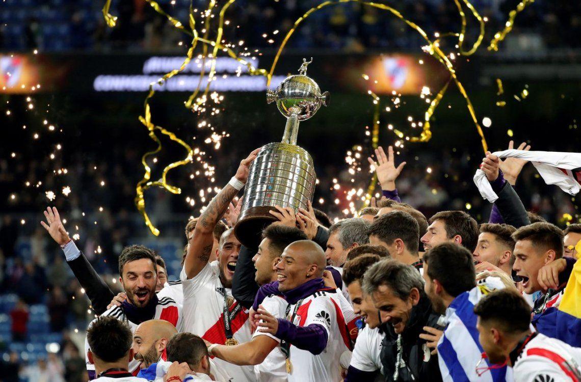 Conmebol dio a conocer el parche que utilizarán River y Flamengo en la final única de la Copa Libertadores 2019