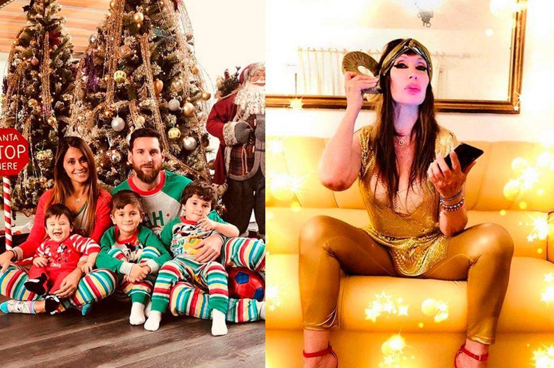 De Lionel Messi a Moria Casán: así pasaron la Navidad los famosos