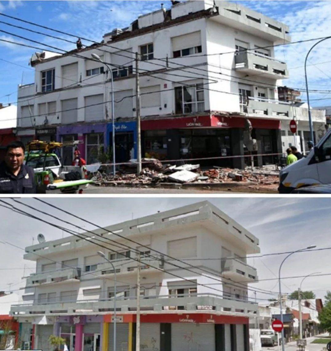 Derrumbe en Mar del Plata: así quedó el edificio tras la tragedia