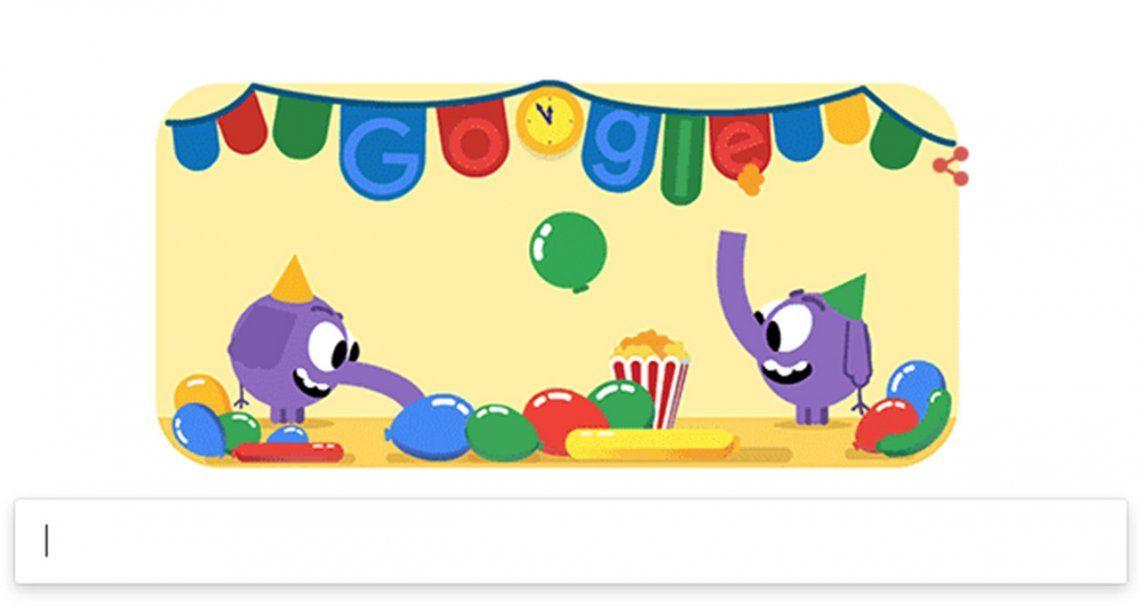 Google se suma a los festejos por Año Nuevo con un divertido doodle