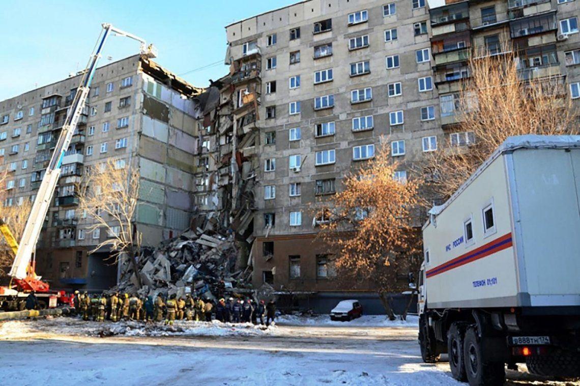 Resultado de imagen para derrumbe edificio gas rusia