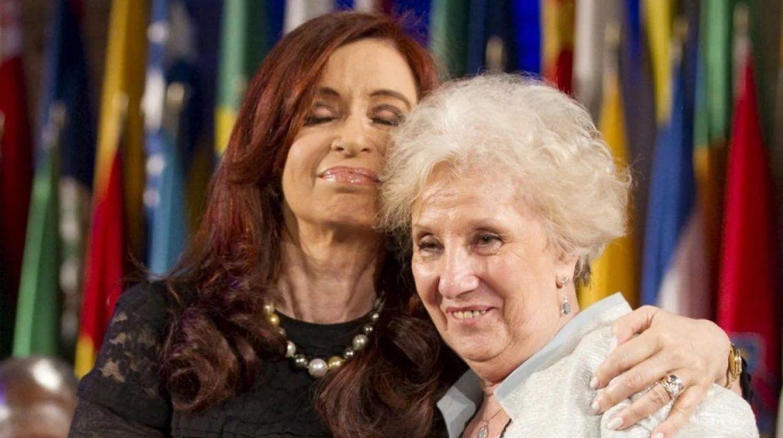 Estela de Carlotto: A Cristina la queremos muchísimo, ojalá vuelva