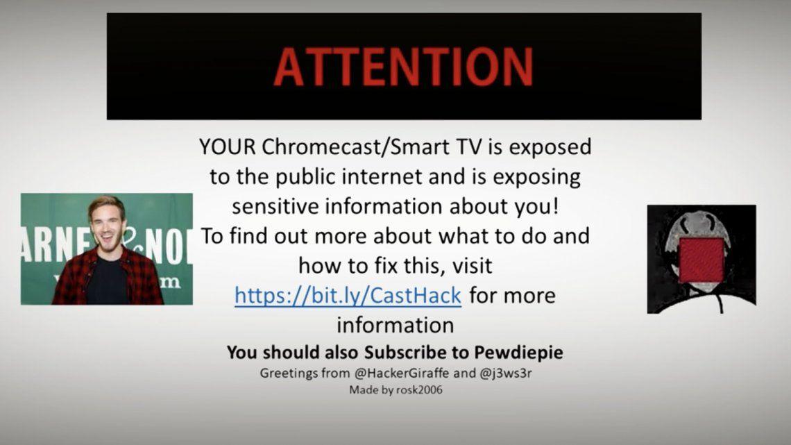 Miles de Chromecast y Smart TV, hackeados como consecuencia de una guerra entre youtubers