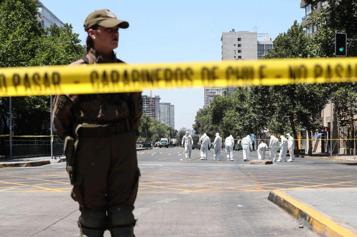 Explotó una bomba en una parada de colectivos en Chile: 5 heridos