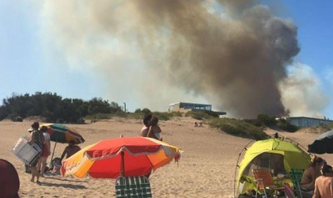 Villa Gesell: un incendio forestal sorprendió a los turistas
