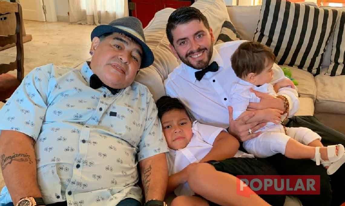 Fotos Exclusivas: las mejores imágenes de Diego Maradona en el bautismo de Dieguito Matías